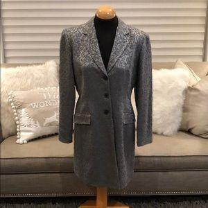 Tahari grey/silver jacket